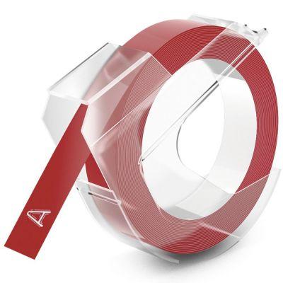 DYMO Kırmızı 3D Plastik Kabartma Yedek Şerit (9mm x 3mt)
