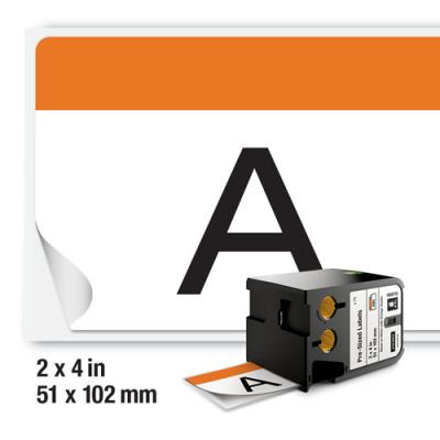 DYMO XTL 1868713 Turuncu Güvenlik Etiketi 52x102mm Beyaz - Siyah (75 Adet)