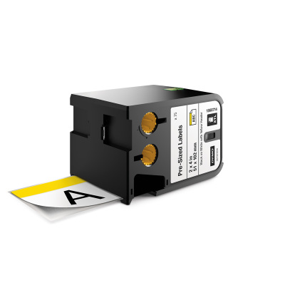 DYMO XTL 1868714 Sarı Güvenlik Etiketi 52x102mm Beyaz - Siyah (75 Adet)