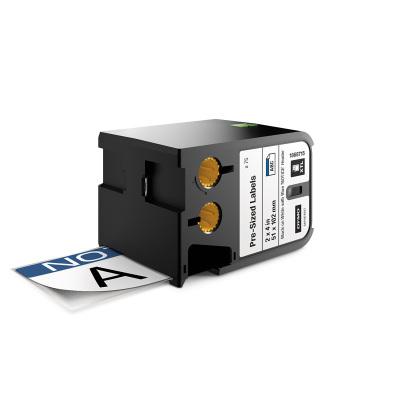 DYMO XTL 1868715 Mavi Güvenlik Etiketi 52x102mm Beyaz - Siyah (75 Adet)