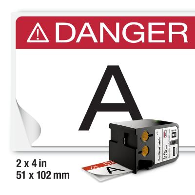 DYMO XTL 1868716 Kırmızı Güvenlik Etiketi 52x102mm Beyaz - Siyah (75 Adet)