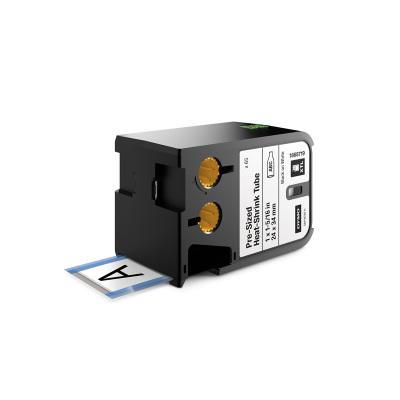 DYMO XTL 1868719 Isı ile Küçülen Kablo Etiketi 24x34mm Beyaz - Siyah (60 Adet)
