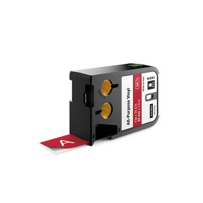 DYMO XTL 1868763 Çok Amaçlı Vinil Etiket 24mm x 7m Kırmızı - Beyaz