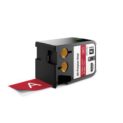 DYMO XTL 1868764 Çok Amaçlı Vinil Etiket 41mm x 7m Kırmızı - Beyaz