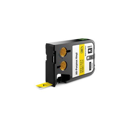 DYMO XTL 1868771 Çok Amaçlı Vinil Etiket 12mm x 7m Sarı - Siyah