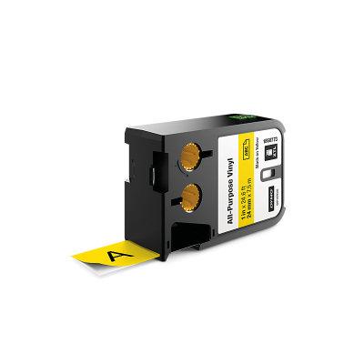 DYMO XTL 1868773 Çok Amaçlı Vinil Etiket 24mm x 7m Sarı - Siyah