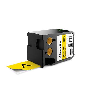 DYMO XTL 1868774 Çok Amaçlı Vinil Etiket 41mm x 7m Sarı - Siyah