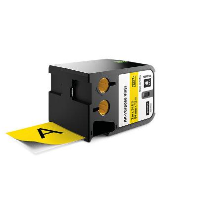 DYMO XTL 1868775 Çok Amaçlı Vinil Etiket 54mm x 7m Sarı - Siyah