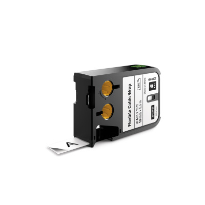 DYMO XTL 1868807 Esnek Kablo Etiketi 19mm x 5,5m Beyaz - Siyah